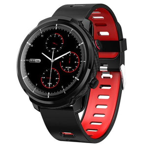 Smart Watch Waterproof Activity Tracker - silicone strap red - Smart Watches1