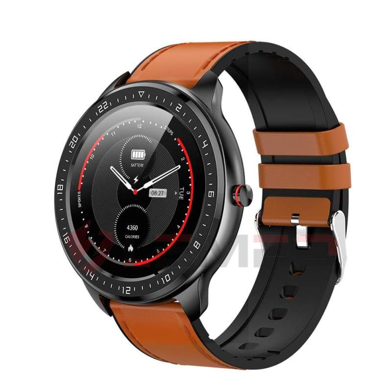 Smartwatch Fitness Tracker Just For You - brown leather - Smart Watches1