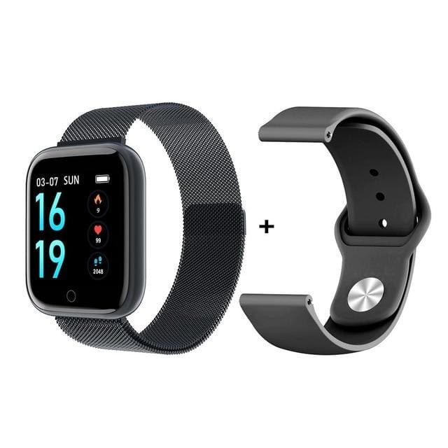 Smartwatch Waterproof Smart Watch Fitness Tracker Just For You - add Silica GelBlack / with box - Smart Watches2