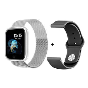 Smartwatch Waterproof Smart Watch Fitness Tracker Just For You - add Silica GelSilver / with box - Smart Watches2