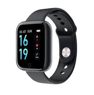 Smartwatch Waterproof Smart Watch Fitness Tracker Just For You - Silica Gel Black / with box - Smart Watches2