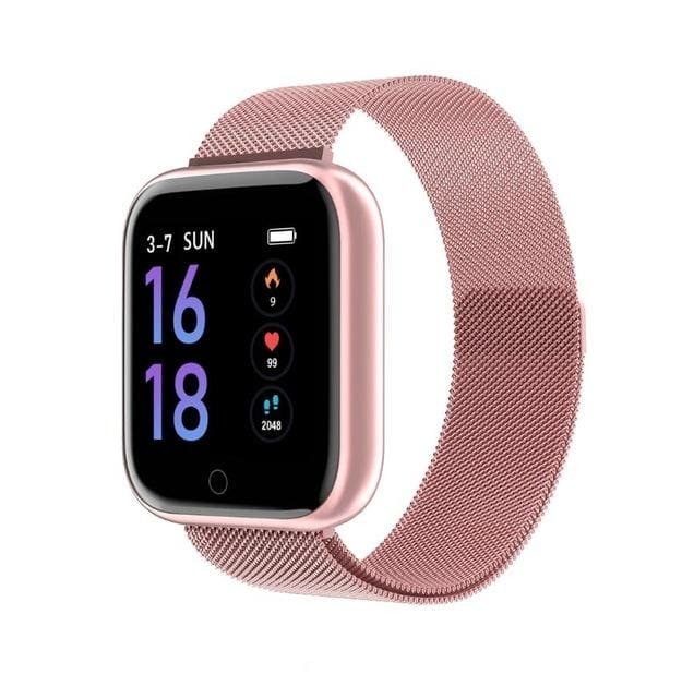 Smartwatch Waterproof Smart Watch Fitness Tracker Just For You - Steel Pink / with box - Smart Watches2