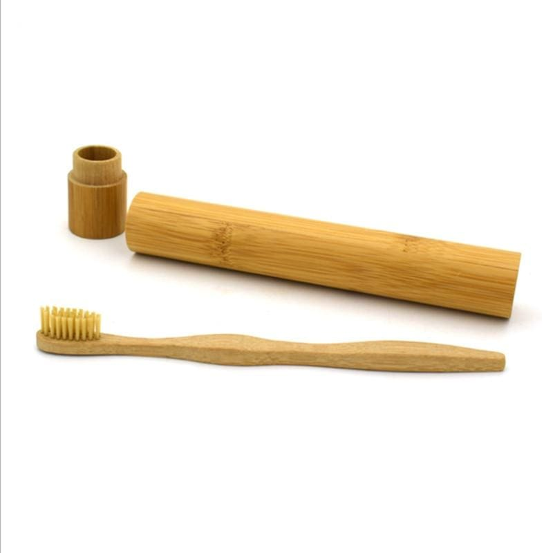 Soft bamboo toothbrush - Black - Toothbrushes