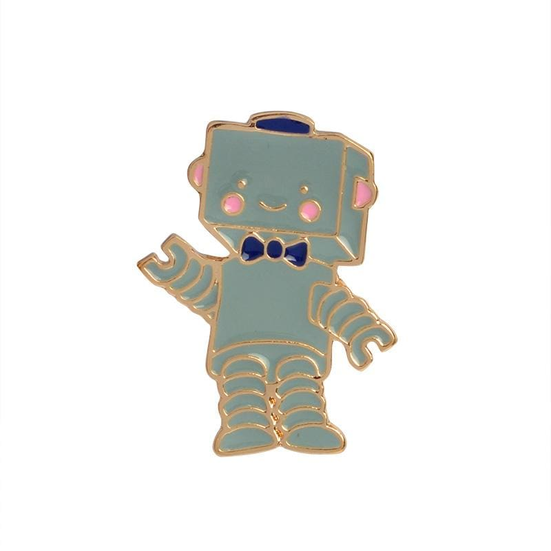 Space astronomy brooches - robot - Brooches