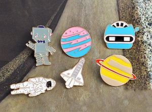 Space astronomy brooches - Brooches