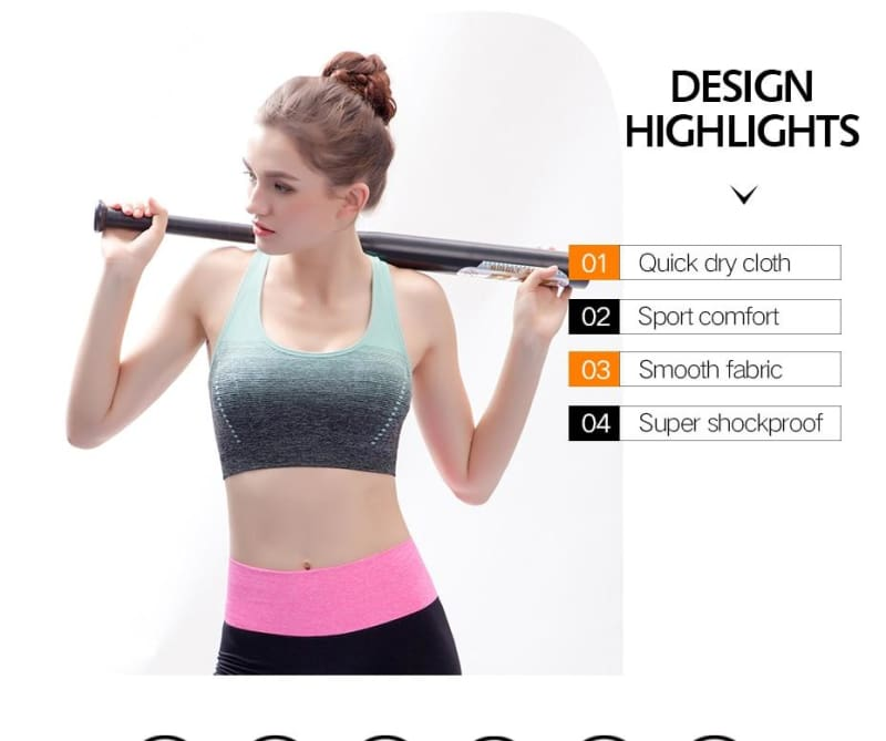 Sports Bra High Stretch Breathable - Sports Bras