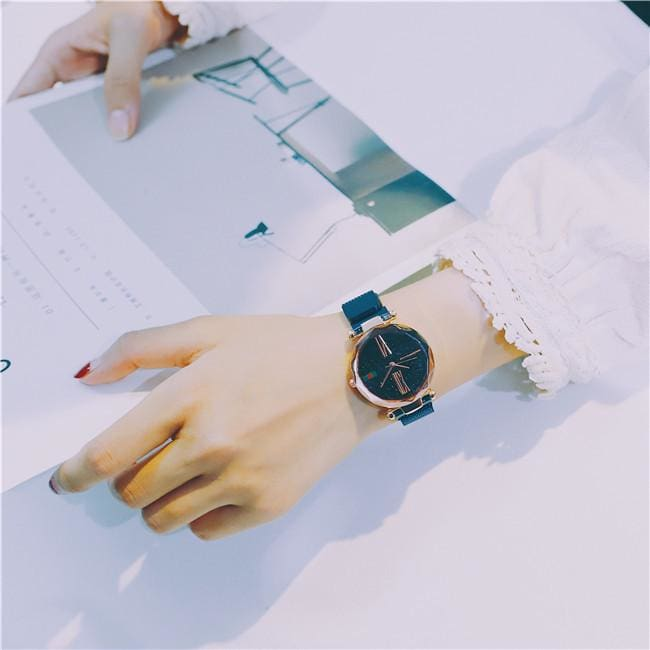 Starry sky watches Waterproof watches - Blue - Womens Watches