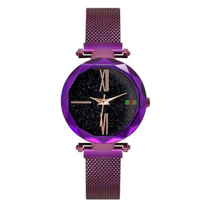 Starry sky watches Waterproof watches - Purple - Womens Watches