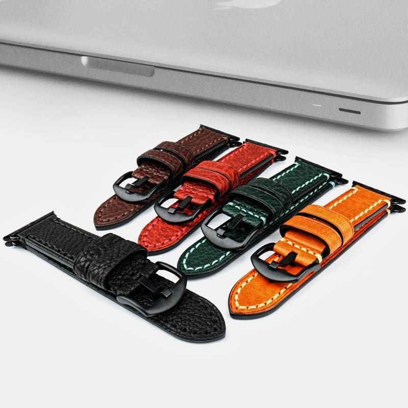 Stitched Leather Watch Bands For Apple Watch - Watchbands