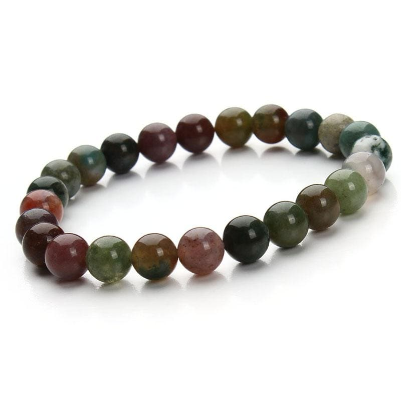 Summer Style Natural Stone Beads Bracelet - India Agate - Charm Bracelets