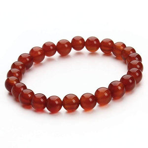Summer Style Natural Stone Beads Bracelet - Red Agate - Charm Bracelets