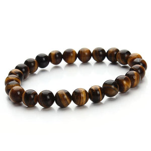 Summer Style Natural Stone Beads Bracelet - Yellow Tiger Eye - Charm Bracelets