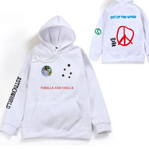 Thrills and Chills hip hop hoodies - WHITE / S - Hoodies & Sweatshirts