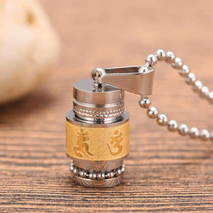 Tibetan Prayer Wheel Pendant & Chain - Pendant Necklaces