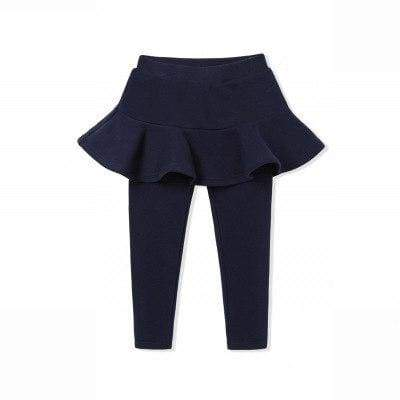 Toddler skirted leggings - blue / 3T - Pants