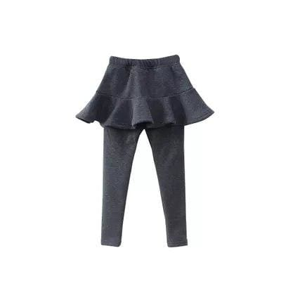 Toddler skirted leggings - Dark Grey / 3T - Pants