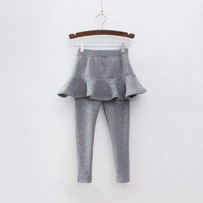Toddler skirted leggings - Gray / 3T - Pants