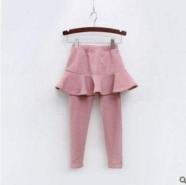 Toddler skirted leggings - Pink / 3T - Pants