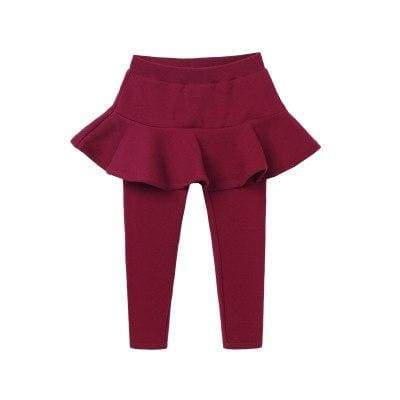 Toddler skirted leggings - red / 3T - Pants