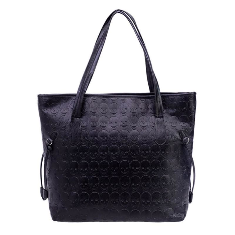 Tote Shoulder Leather Skull Bag - Shoulder Bags