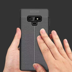 Ultra-Thin Silicone Leather Case For Samsung - Black / S10 / Case & Screen Protector - Fitted Cases