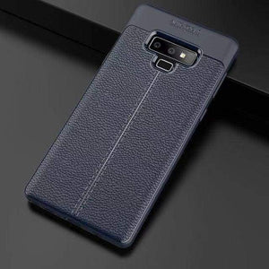 Ultra-Thin Silicone Leather Case For Samsung - Blue / S10 / Case & Screen Protector - Fitted Cases
