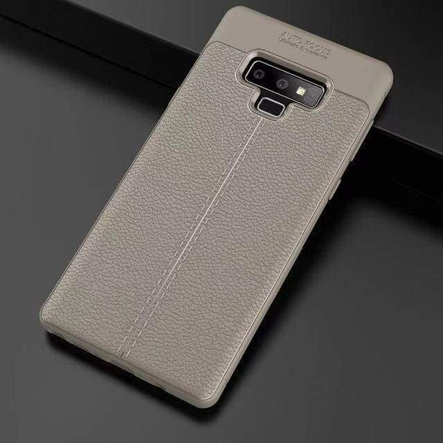 Ultra-Thin Silicone Leather Case For Samsung - Gray / S10 / Case & Screen Protector - Fitted Cases