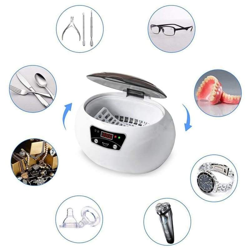 Ultrasonic Jewelry Cleaner - White / AU - electronic jewelry cleaner