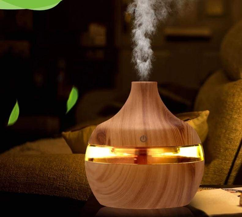 Ultrasonic Mist Humidifier - Light wood grain - Humidifiers