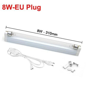Ultraviolet Lamp Disinfection Sterilizer Tube - 8W With EU Plug - UV Lamps1