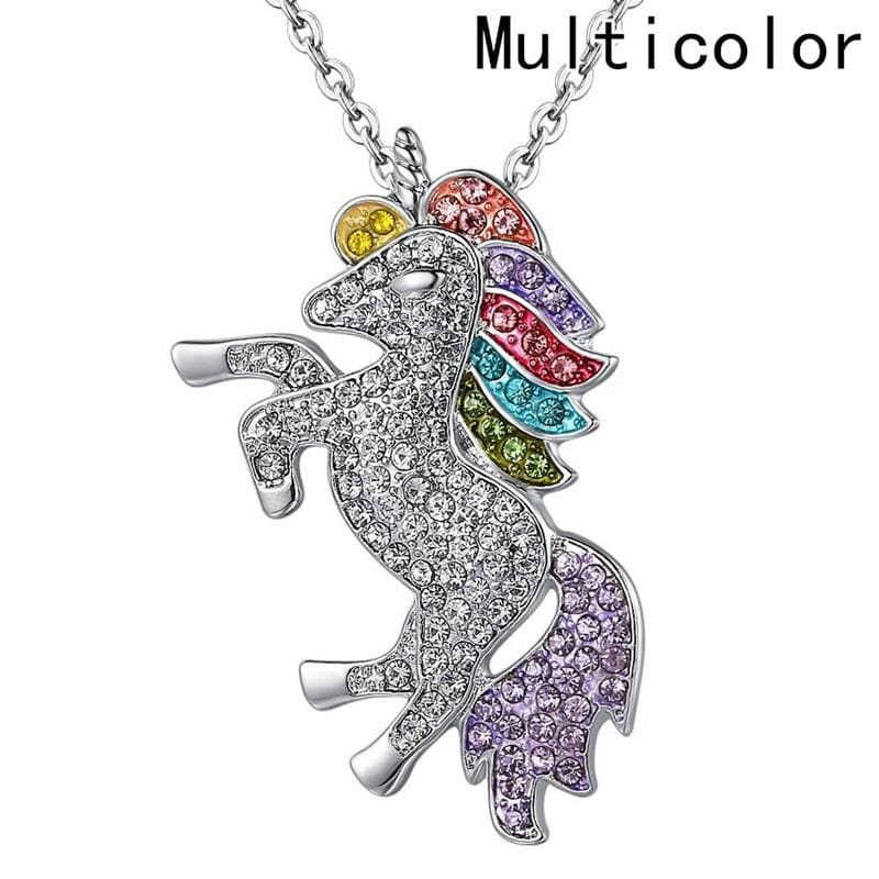 Unicorn Girls Rainbow Pendant - Pendant Necklaces