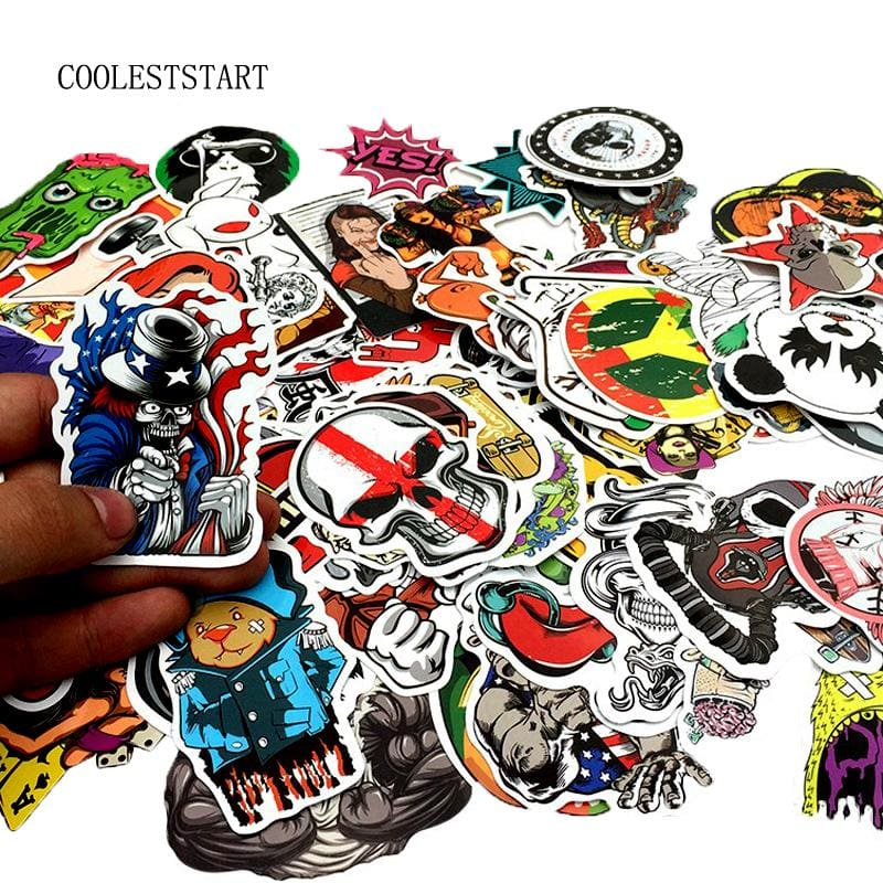 Unique Assorted Stickers - 50pcs All different - Stickers