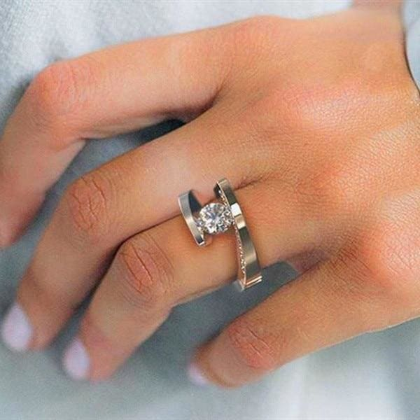 Unique Spiralling Solitaire Ring - Engagement Rings