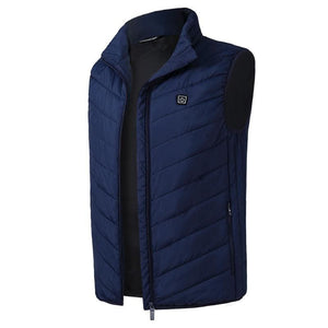 USB Heating Electric Jacket - Blue / S - Hiking Vests