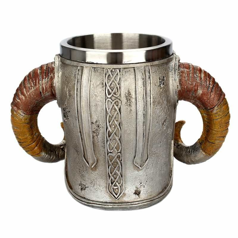 Viking warrior horned skull mug - Fireplace Sets & Accessories