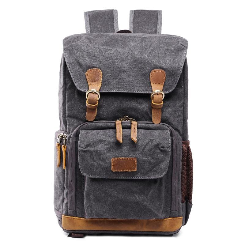 Vintage Photography Waterproof Backpacks For Work - Gray - Camera/Video Bags