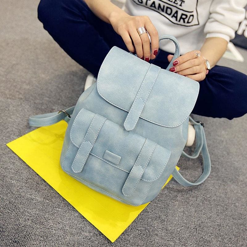 Vintage Women Backpacks - Blue - Backpacks