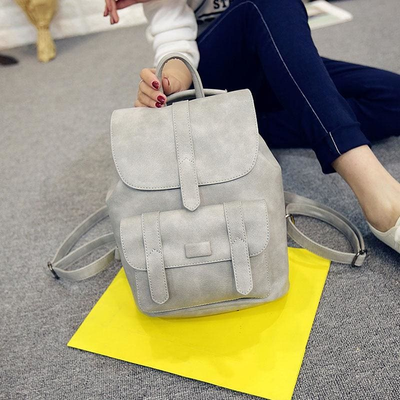 Vintage Women Backpacks - Gray - Backpacks