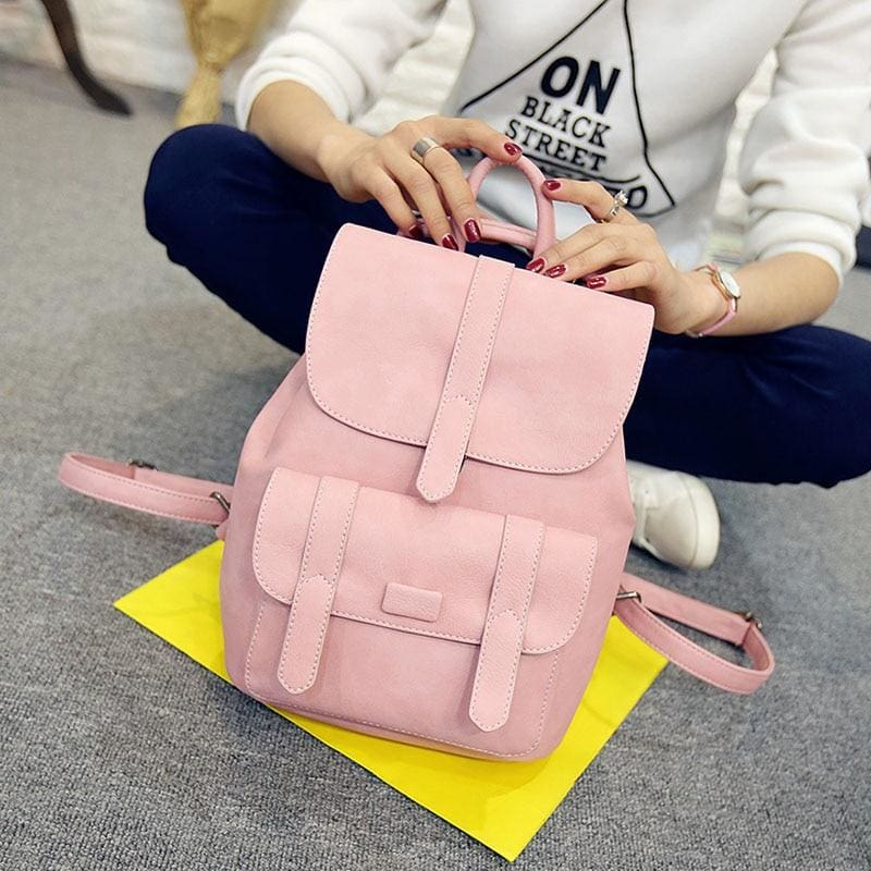 Vintage Women Backpacks - Pink - Backpacks