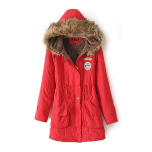 Warm Hooded Parka Women Just For You - Red / S / United States - Parkas