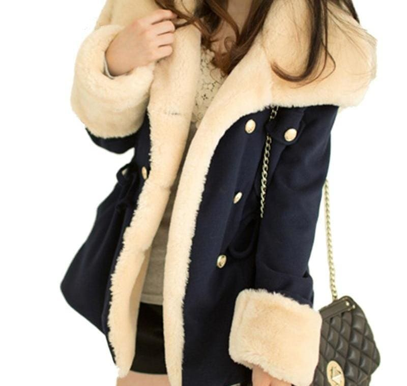 Winter Thick Jackets Solid Slim - Basic Jackets