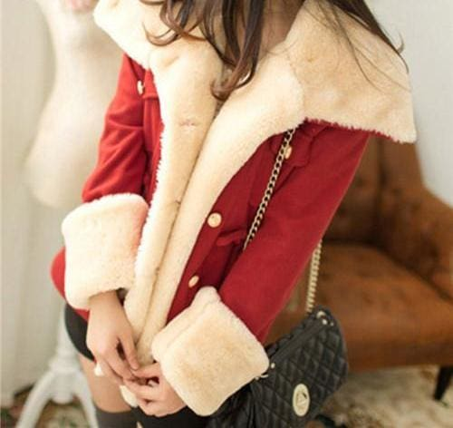Winter Thick Jackets Solid Slim - Red / L - Basic Jackets