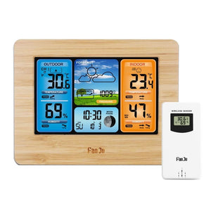 Wireless Home Weather Station Just For You - Wood - Wireless Home Weather Station