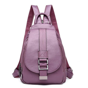 Women Leather Backpacks Just For You - Purple - Backpacks