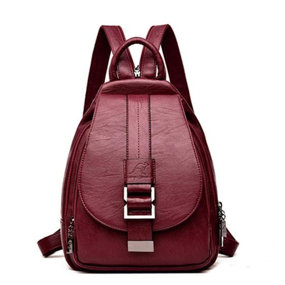 Women Leather Backpacks Just For You - Red - Backpacks