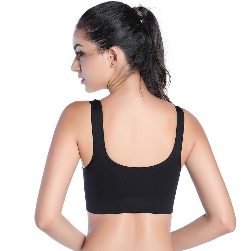 Women Stretch Push Up Workout Yoga Sports Bra - Sports Bras