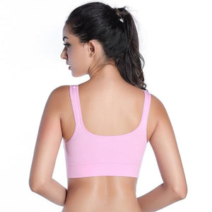 Women Stretch Push Up Workout Yoga Sports Bra - Pink / L - Sports Bras