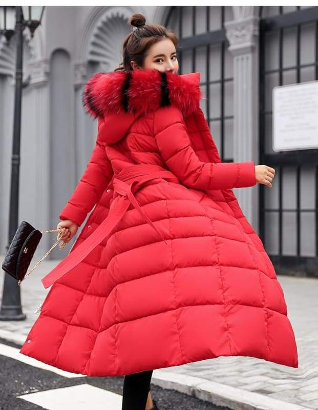 Women Winter Jacket Fashion Slim Just For You - Red / XL - Women Winter Jacket