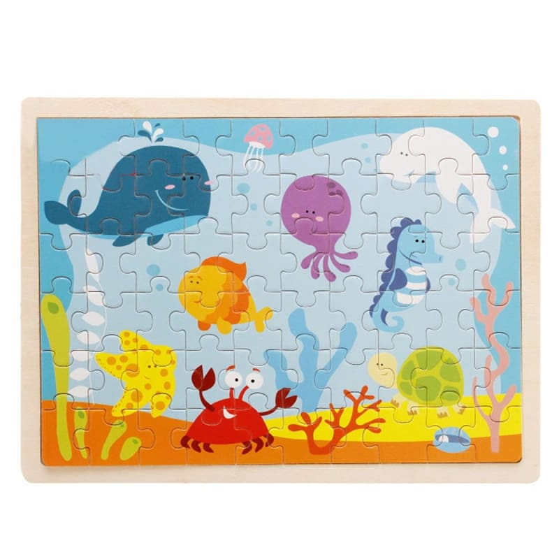Wooden Jigsaw Puzzle - 1960338 - Puzzles