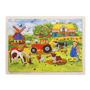 Wooden Jigsaw Puzzle - 1960341 - Puzzles